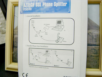 ADSL phone splitter