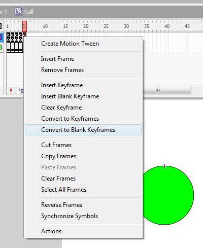 Blank keyframes