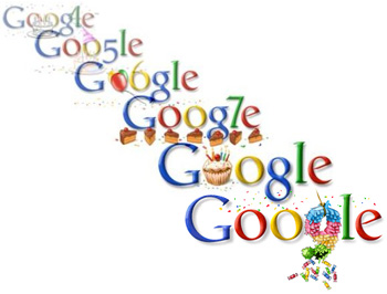 Google birthday logos