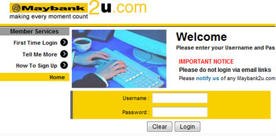 Maybank2u reverts to the classic version - Kong Technology