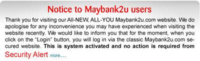 Maybank2u notice