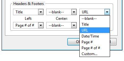 Print URL