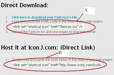 Favicon codes