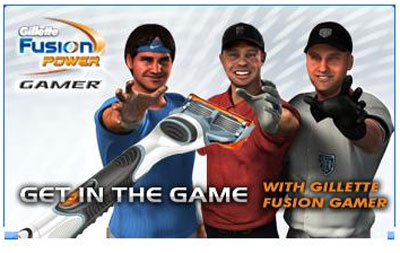 Gillette Razor Gamer ad