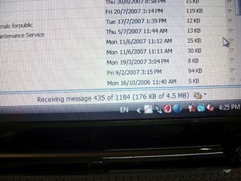 Huge emails