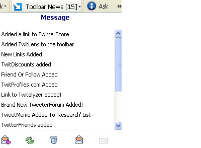 Toolbar news