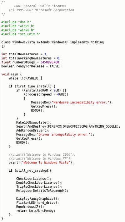 Vista Code