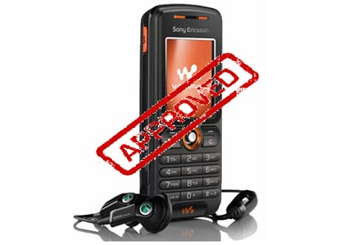 Mobile phone approved